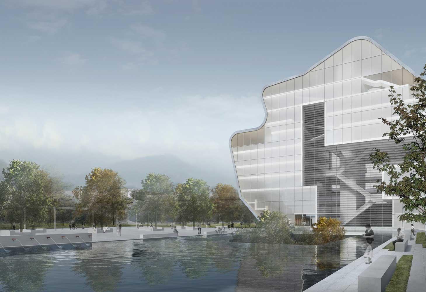 Steven Holl Architects presenta su diseño para el Museo y Biblioteca de Arte de Shenzhen